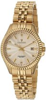 Croton Women's 'Heritage' Quartz Stainless Steel Casual Watch, Color:Gold-Toned (Model: CN207528YLCD)