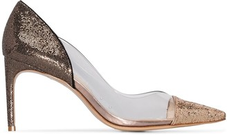 Sophia Webster Daria 85mm glittered pumps