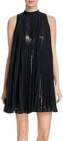 Tracy Reese Pleated Chiffon & Sequined Mini Dress