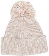 Calvin Klein Chunky Marled Pom Beanie (Heathered Almond) Knit Hats