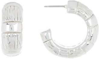Simon Sebbag Sterling Silver Textured Huggie Hoop Earrings