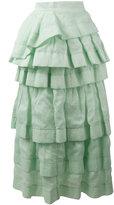 Ermanno Scervino frill layered skirt - women - Ramie/Polyamide - 42