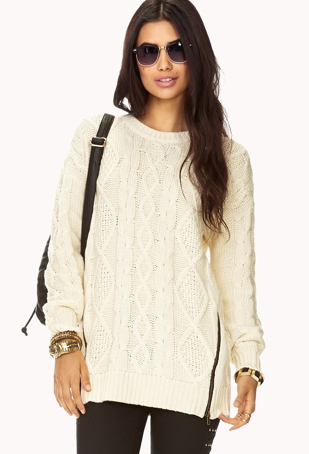 Forever 21 favorite cable knit sweater