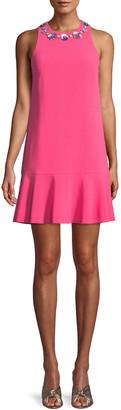 Trina Turk Fizz Mini Dress w/ Embellished Collar