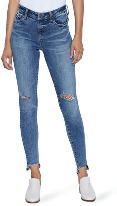 WASH LAB Faye Ripped Step Hem Skinny Jeans