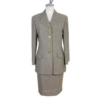 Brioni Brown Wool Skirt for Women Vintage