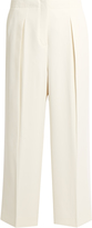 Elizabeth and James Billie pleated wide-leg cady trousers