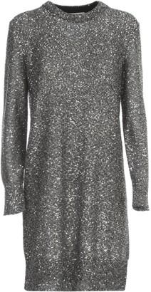 MICHAEL Michael Kors Sequined Metallic Knit Dress