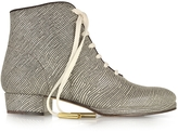 Zoe Lee Zachary Lizard Embossed Lace up Bootie