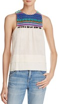 Saylor Embroidered Pom-Pom Top - 100% Exclusive