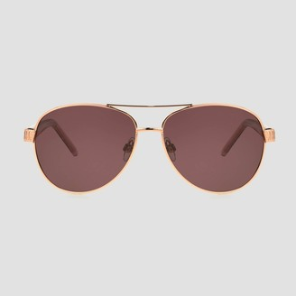 A New Day Women' Aviator Metal hiny unglae Roe Gold