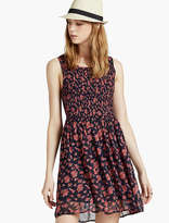Lucky Brand Smocked Floral Dress