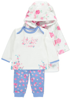 George 3 Piece Dressing Gown and Pyjamas Set