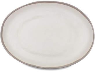 Q Squared Potter Stone Melamine Oval Platter