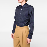 Paul Smith Men's Tailored-Fit Navy 'Gufram Cactus' Cotton-Twill Shirt