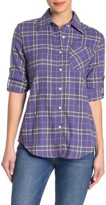 Love + Harmony Long Sleeve Button Front Plaid Shirt