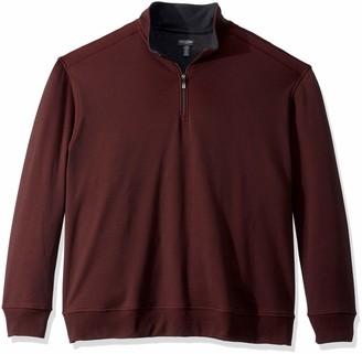Van Heusen Men's Size Big and Tall Flex Fleece Long Sleeve Quarter Zip