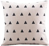 "CoolDream Cotton Linen Decorative Pillowcase Throw Pillow Cushion Cover Square 18"" Retro Small Up Triangle"