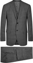 Corneliani Grey Super 120's Checked Wool Suit