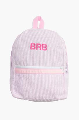 Mint Pink Seersucker Backpack