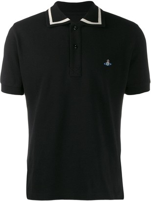 Vivienne Westwood logo embroidered polo shirt