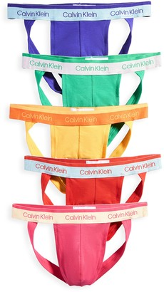 Calvin Klein Underwear Pride Edit Cotton Stretch 5 Pack Jock Straps