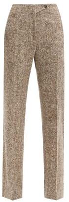 Petar Petrov Hakon Wool-blend Tweed Trousers - Brown