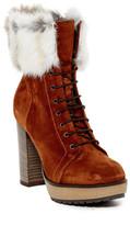 Manas Design Genuine Rabbit Fur Lined Boot