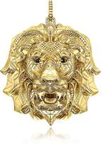 Thomas Sabo 925 Sterling Silver & 18k Yellow Gold Lion Pendant w/Black Zirconia