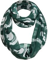 Women's Forever Collectibles Michigan State Spartans Logo Infinity Scarf