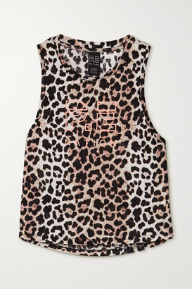 P.E Nation Bar Down Cropped Leopard-print Linen Tank