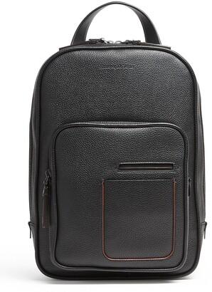 Ermenegildo Zegna Textured-Leather Backpack