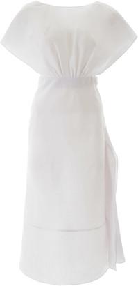 Miu Miu Linen Midi Dress