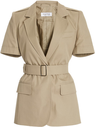 Max Mara Cesare Belted Cotton Jacket