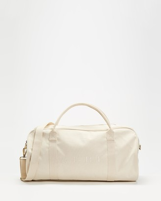 AERE - Neutrals Weekender - Organic Canvas Weekender - Size One Size at The Iconic