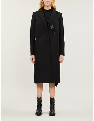 Alyx Slim-fit notch-lapels wool-blend coat
