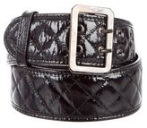 Moschino Quilted Patent Leather Belt
