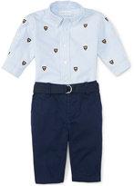 Ralph Lauren Boys' Embroidered Shirt & Chino Pants Set