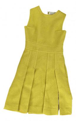 Diane von Furstenberg Yellow Wool Dresses