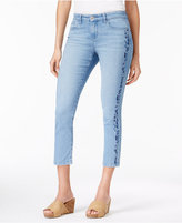 Style&Co. Style & Co Petite Embroidered Capri Jeans, Only at Macy's
