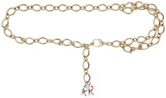 ROWEN ROSE Double Chain Belt W/ Rr Multicolor Logo