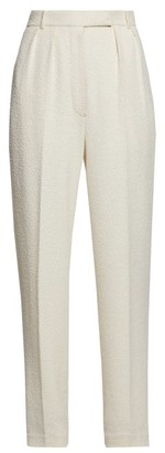 The Row Landeli Boucle Wide-leg Trousers - Womens - Cream