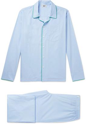 Sleepy Jones Henry Piped Cotton-Poplin Pyjama Set