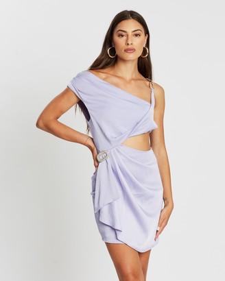 Missguided Chain Strap Satin Drape Mini Dress