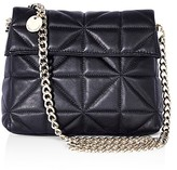 Karen Millen Quilted Leather Shoulder Bag