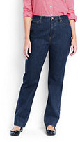 Lands' End Women's Plus Size High Rise Straight Leg Jeans-Medium Wash