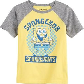 Boys 4-12 Jumping Beans Spongebob Square Pants Raglan Graphic Tee