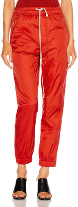 Rick Owens Track Pant in Cardinal Red | FWRD