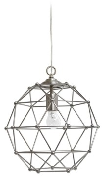 All The Rages Elegant Designs 1 Light Hexagon Industrial Rustic Pendant Light