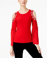 INC International Concepts Rhinestone-Trim Bell-Sleeve Top, Created for Macy's